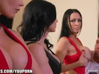 One lucky guy gets to bang three SEXY Soccer moms at once