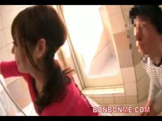 日本の, シャワー, 妻