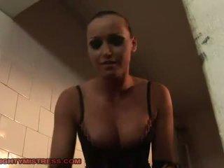 Mistress dominating two slavegirls