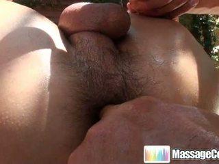 Massagecocks oily utendørs massasje