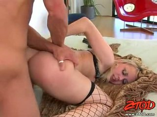 Hawt netted בלונדי annette schwarz getting pounded ב שלה sugary יפה slit