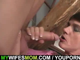 Cock hungry woman seduces her son in l...