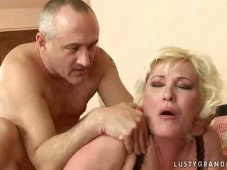 Fat grandma gets her pussy rammed