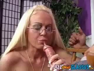 blowjob, cumshot, blondīne