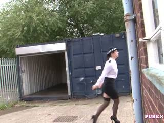 PURE XXX FILMS Fucking a busty police woman for no fine