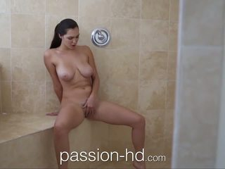 Passion-HD Girl masturbating in shower gets fucked