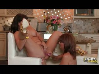 Bitchy whore Desi Foxx couldnt get enough with the lesbian action until she cums