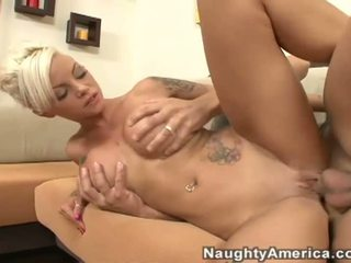 Foxy big breasted wife gets nailed by massive fat dong