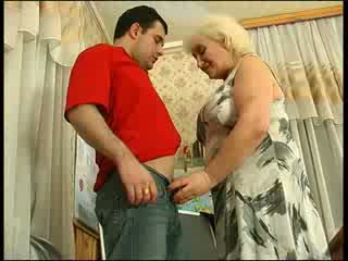 Russian Granny Teacher Fucks With Her Student Video