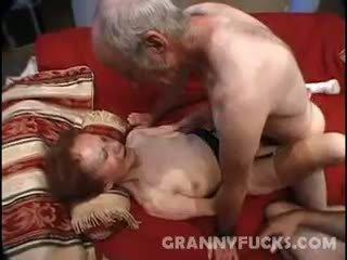 Raw Grandma Threesome