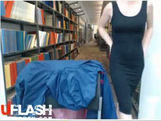 Nude In Public Library Petite Blonde Amateur Teen on Webcam