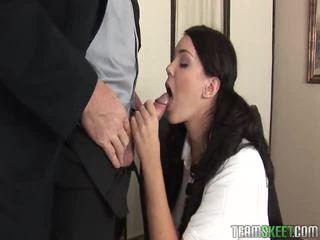 briunetė, paauglių seksas