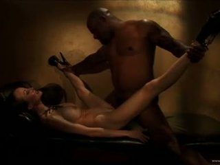 Ange Venus love making out with horny black guy