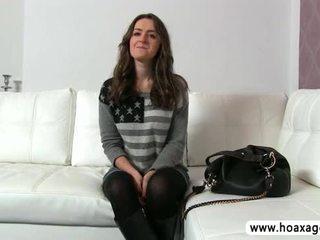 Piękny euro laska kendra fucked i jizze podczas jej przesłuchanie