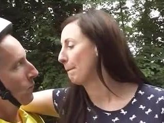 British Mature loving Bicycle goes Anal
