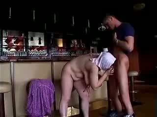 Horny Old Bag Gets Her Dentures Cracked On A Cock