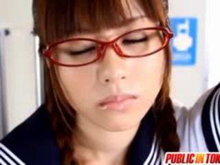 Uimitor adolescenta rina rukawa loves futand strangers în public