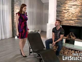 watch tits, brunette, new big dick
