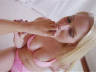 Vanessa Cage and Cali Carter foot licking