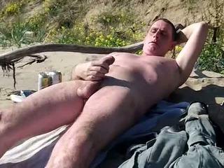 Długo slow kutas pokaz na publiczne plaża