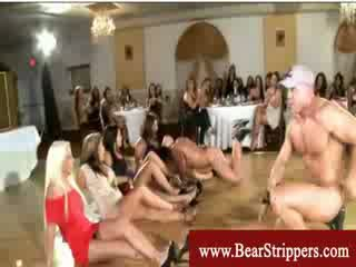 CFNM ladies horny for stripper cock