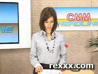 Berita reporter gets bukakke semasa beliau kerja (maria ozawa bu