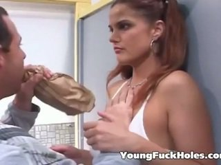 brünett, noor, assfucking
