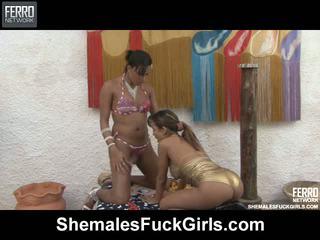 Camila bela traveca fucks gal vídeo