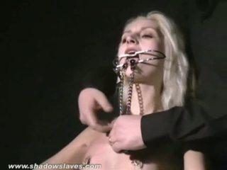 Seksuālā blondīne wynters ekstrēms pīrsings punishments