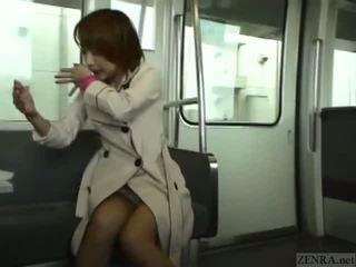 Subtitled 일본의 공공의 입 과 streaking 에 기차