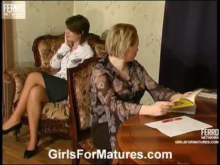 sesso lesbico, matura, porn mature