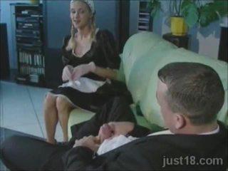Ištvirkęs blondinė tarnaitė pakliuvom sunkus