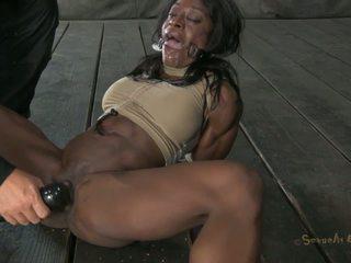 Dark-skinned होर gets tied ऊपर और penetrated जैसा कभी नहीँ से पहले