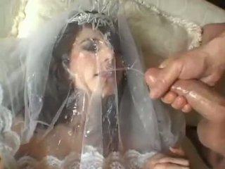 Gorące panna młoda jackie ashe takes a największy i niechlujny na twarz cumsplash