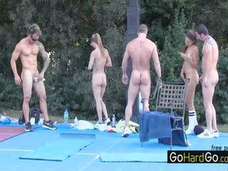 se gruppe sex, store bryster, kvalitet doggystyle