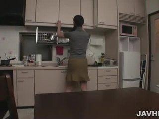 Japonesa pareja en casa