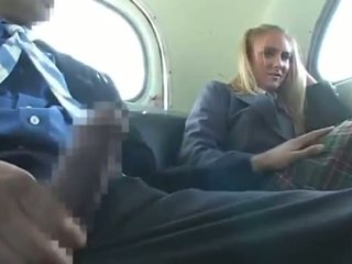 Dandy 171 blond õpilane riietes naine paljaste meestega lõbu edasi buss 1