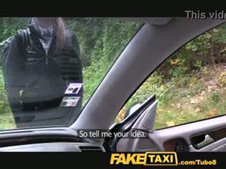 falešný, taxi, blondýnka