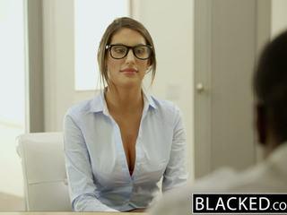 Blacked august ames gets an kostüm düz