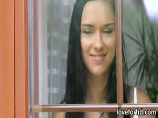 Ayna lezbiyen genç victoria tombul plowed tarafından onu gardener