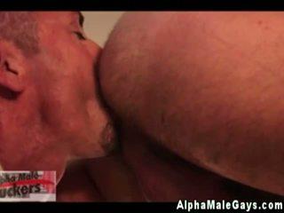 Gay muscle hunks threesome fun