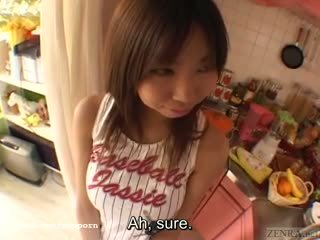Busty tan Japanese schoolgirl big breast complex Subtitles