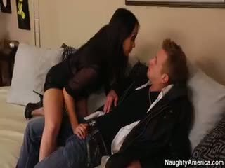brunette, bộ ngực to, blowjob