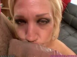 Blonde Cougar Loves Sucking Hard Cock And Balls