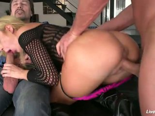 Livegonzo amy brooke sexy double anal penetration