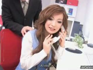 Aiko nagai feasts apie trys thick thick cocks