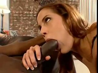 Hawt Wench Autumn Haze Deepthroating A Long Big Hard Black Monster Cock