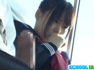 Public Bus Puts Her Moth Inside The Bus Riders Lap