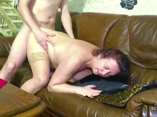 German Step-son Seduce Mom to get First Fuck and Lost
