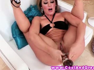 Sheena Shaw loves her new sex toys she
